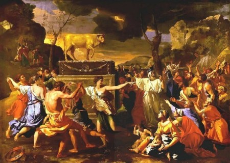 Adoration_of_Golden_Calf_Poussin_1634