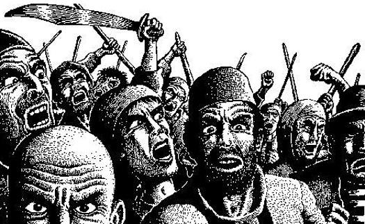 Angry Muslim Mob